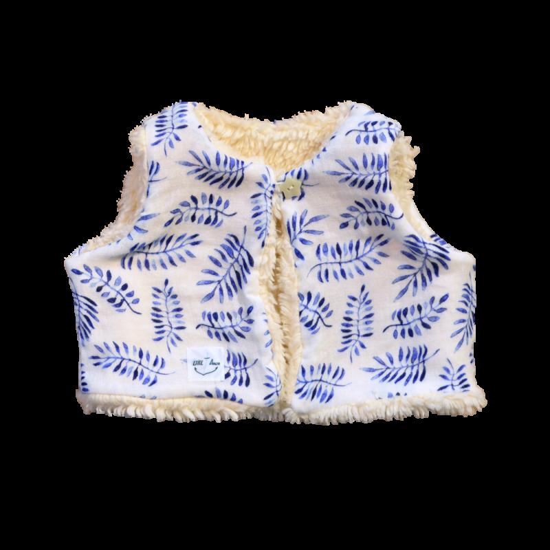gilet Nuuk réversible coton bio safari bleu