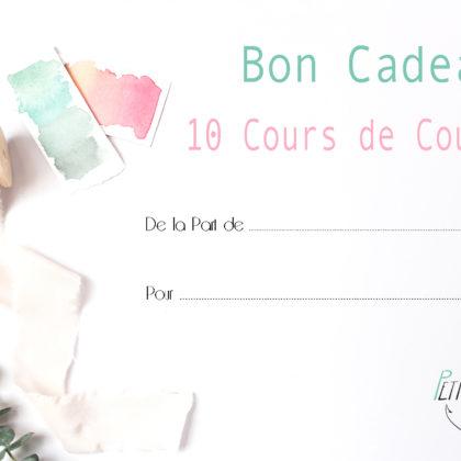 Bon Cadeau 10 cours de couture Petite Ancre Strasbourg