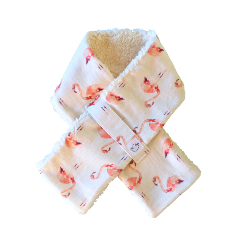 tour de cou chinook flamants roses bio