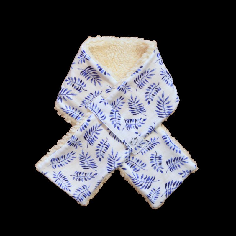 tour de cou safari bleu coton bio