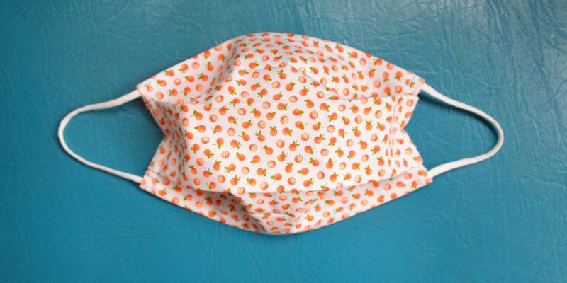 masque tissu lavable reutilisable oranges