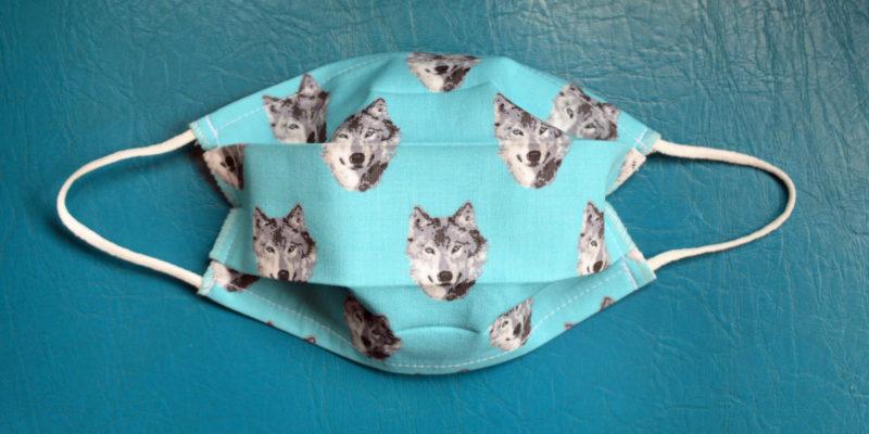 masque tissu lavable têtes de loups