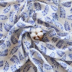 safari-bleu tissu coton bio