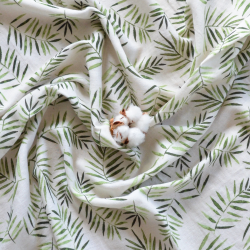 safari-vert tissu coton bio
