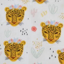tissu léopardes coton bio