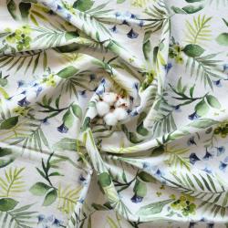 tropical-bleu tissu coton bio